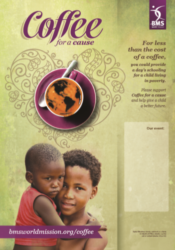 A4 interactive poster - Coffee for a Cause