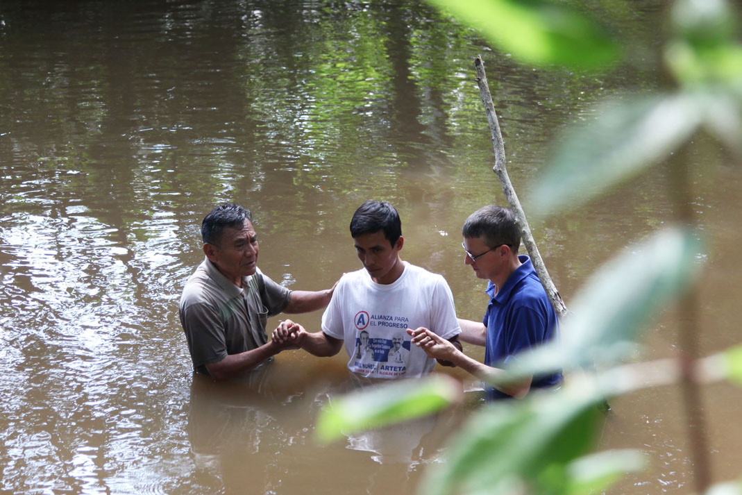 Llino is one of six Christians who recently got baptised in Peru's Amazon