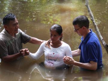 Baptism Rosalbina Baos Davila, Peru's Amazon, NIMTC