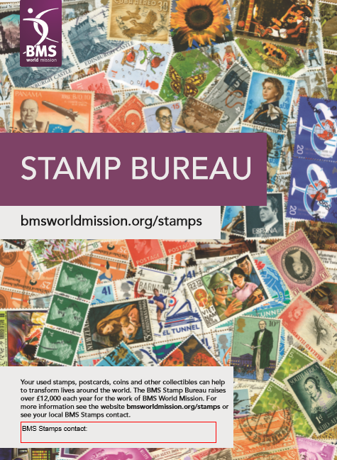 Collecting stamps - BMS World Mission