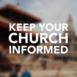 Keep your church informed image