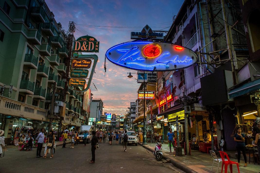 khao San Road Bangkok Thailand 2017