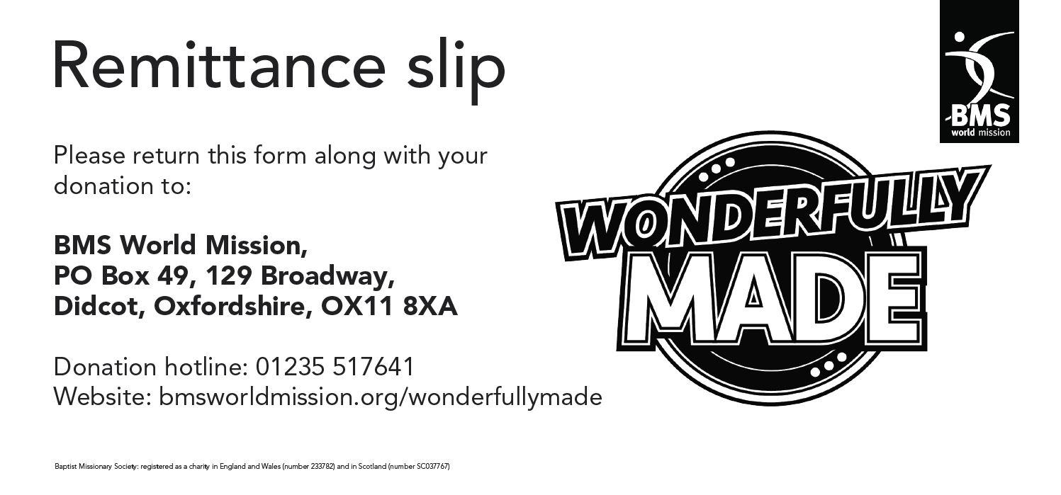 Wonderfully Made Remittance slip image
