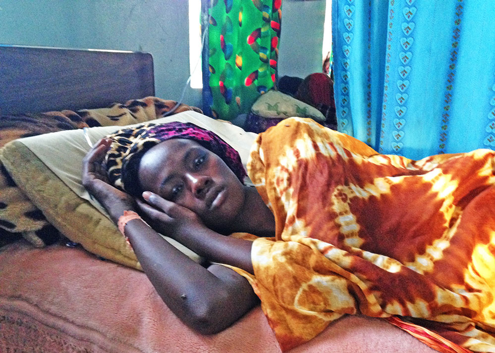 Jamila when she was treated at Guinebor II hospital in Chad.