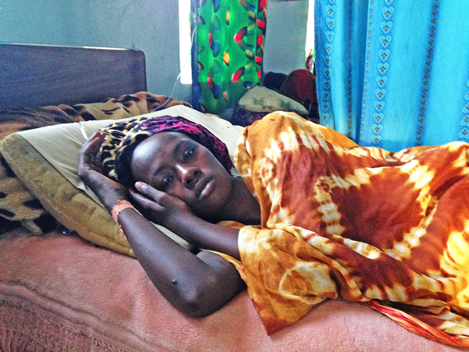 Jamila was diagnosed with cancer and treated at the BMS-supported hospital, Guinebor II in Chad.