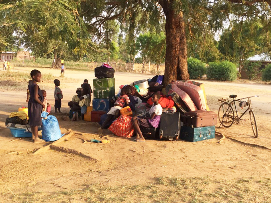 People who have fled their homes because of civil war in South Sudan.