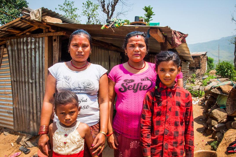 Manisha, Ayushma and their mothers.