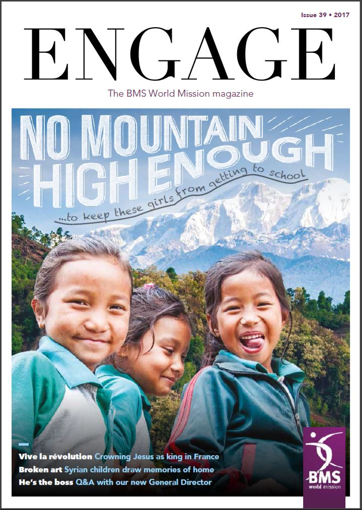 The new issue of Engage, the BMS World Mission magazine.