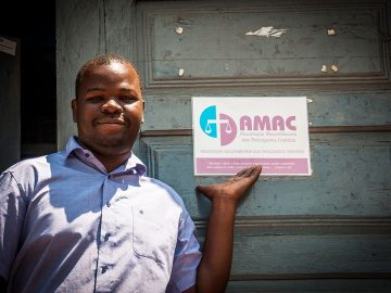 Jeremias Arone is a BMS-supported legal education assistant teaching people about their rights in Beira, Mozambique.