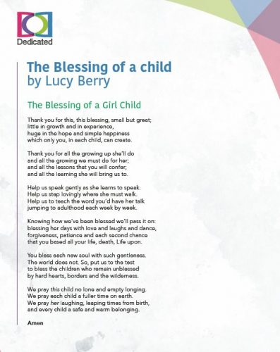 The Blessing Of A Child Poem Dedicated Bms World Mission