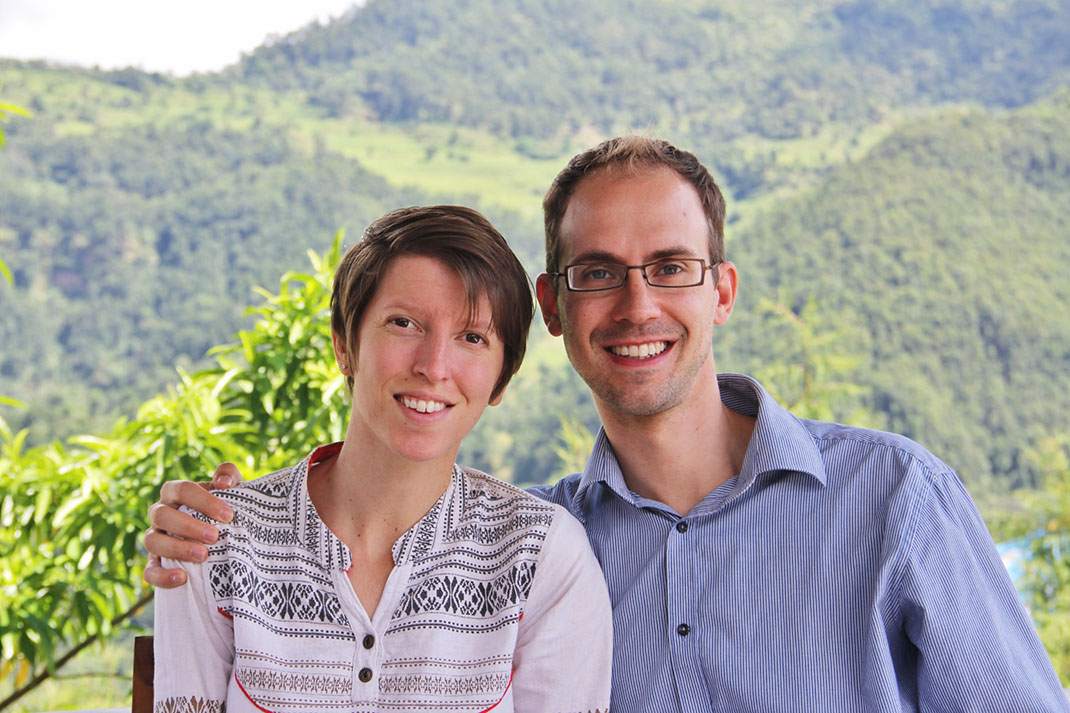 Simon and Wendy, in the mountains of Nepal.