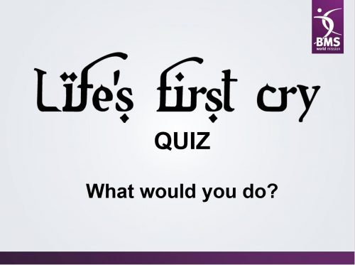 Life's First Cry PPT quiz cover image