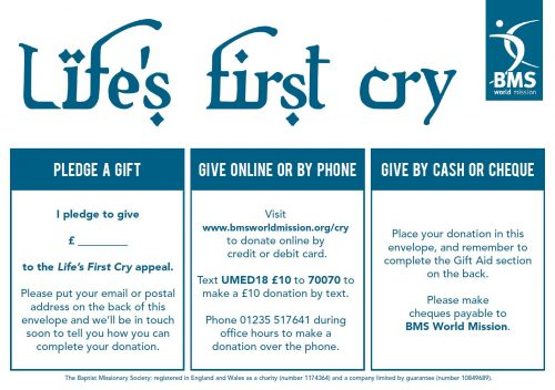 Life's First Cry gift envelope cover image