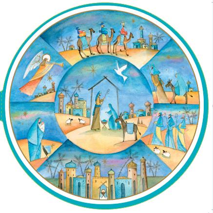 Nativity Scenes - circular card