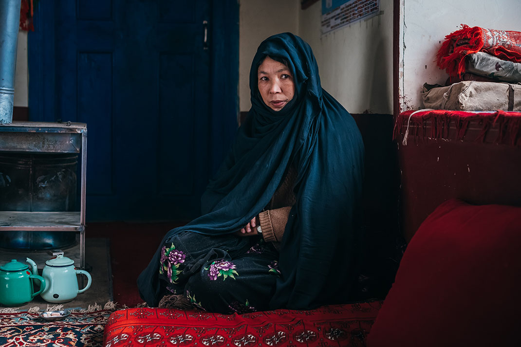 Andisha, a mother from Afghanistan