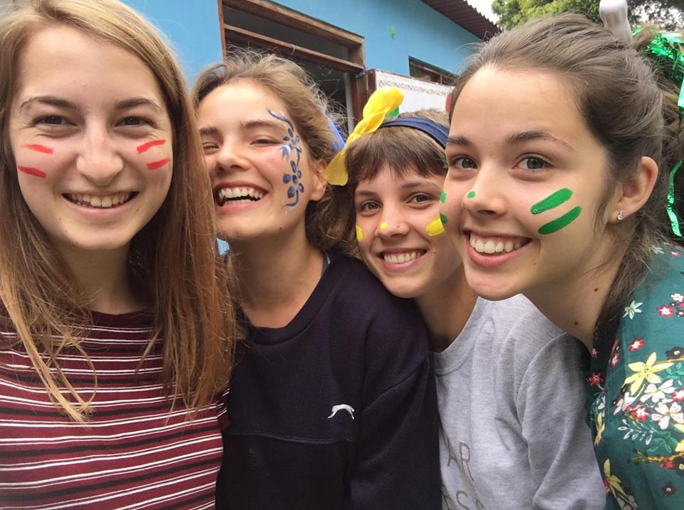 The Action Team in Peru take a selfie while competing in a school sports day