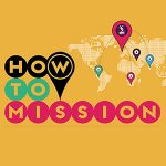 How to Mission logo with World Map and 'pointer' icon
