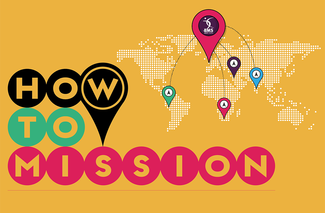 How to Mission image with world map and markers