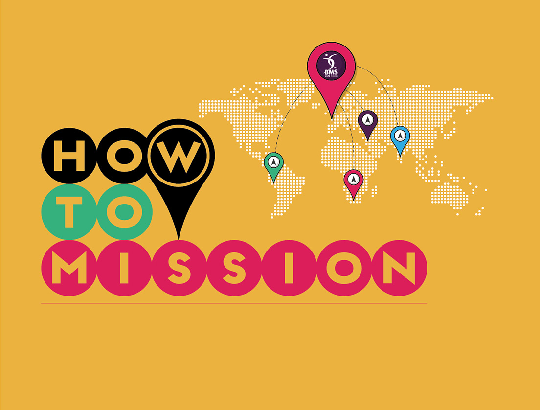 How to mission logo with world map and pointers
