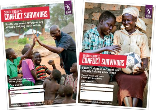 South Sudan's Conflict Survivors - double sided poster image