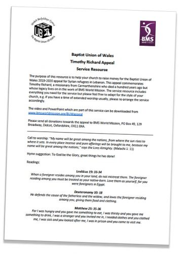 Timothy Richard appeal service resource - English