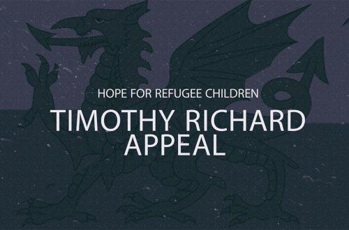 Hope for refugee children - Timothy Richard Appeal