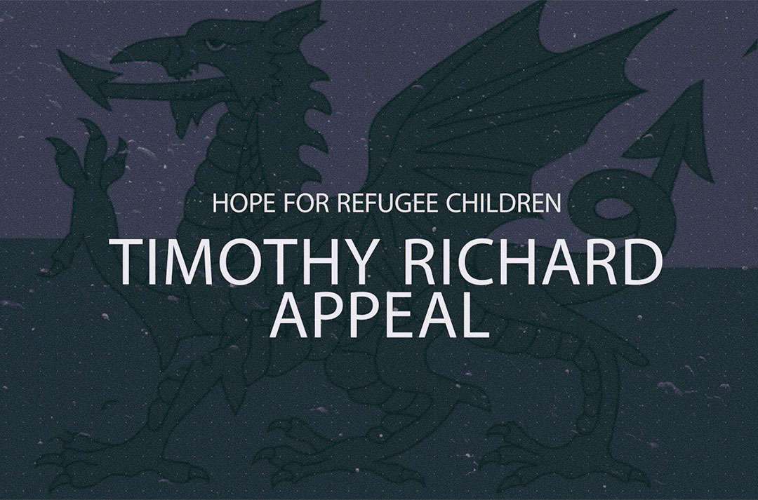 Hope for refugee children - Timothy Richard Appeal