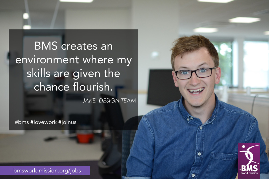 Photo of Jake, who says 'BMS creates an environment where my skills are given the chance to flourish'