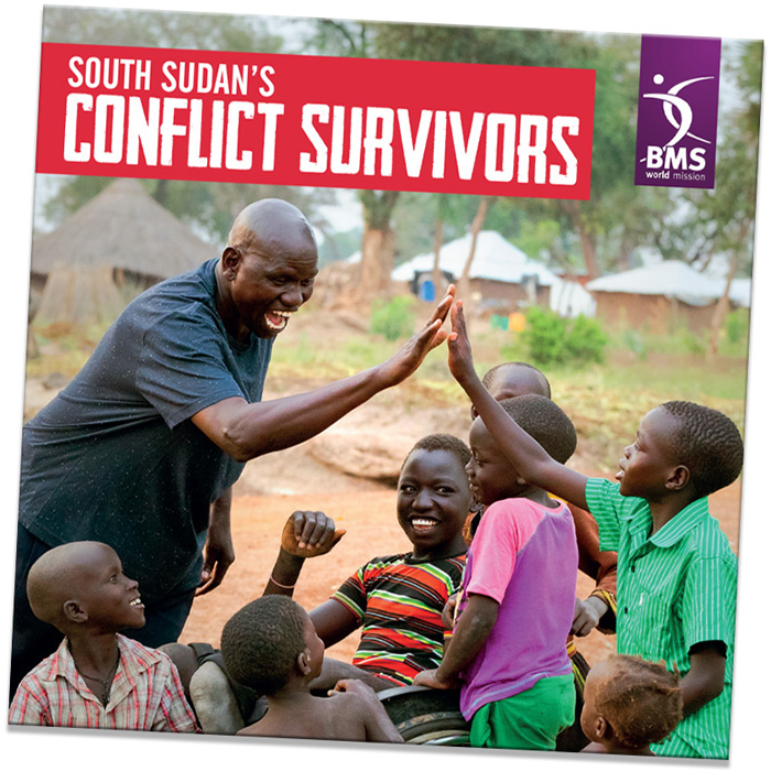 South Sudan's Conflict Survivors DVD featuring a group of boys high-fiving