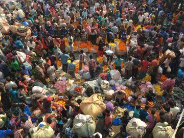 A bustling flower market in Kolkata. An Action Team photo competition submission.