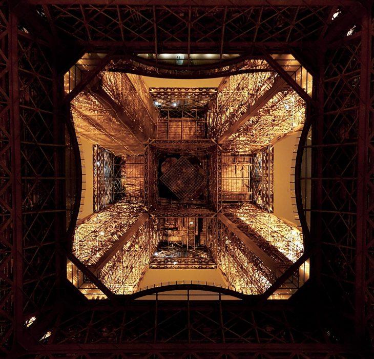 Underside of the Eiffel Tower