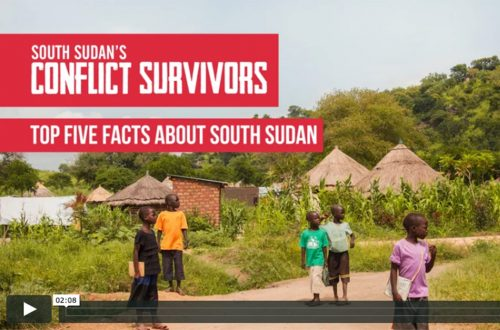 South Sudan's Conflict Survivors five facts about South Sudan video image showing children in one of the refugee camps