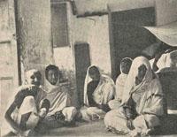 Interior of zenana in Baraset, 1908